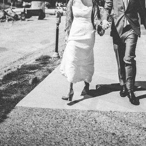 Carmen Marc Valvo Burnout Velvet Wedding Dress